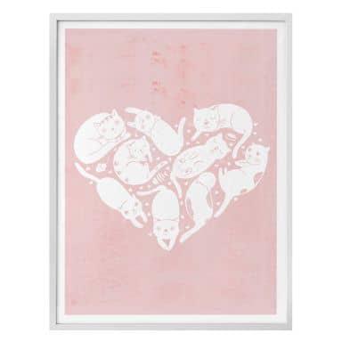 Poster Loske - Cat Heart
