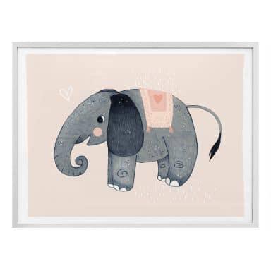 Poster Loske - Elefant