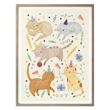 Poster Loske - Katzengeburtstag