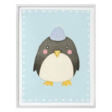 Poster Loske – Pinguin Blauw