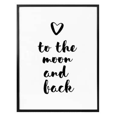 Poster Love to the moon and back