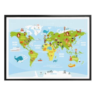 Poster Kids World Map