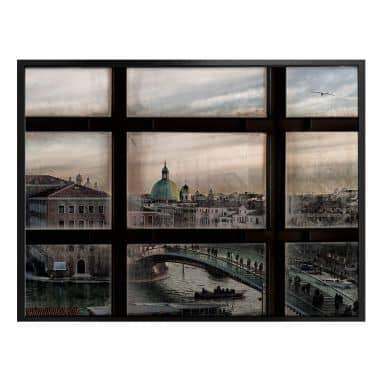 Poster Marini - Fenster in Venedig