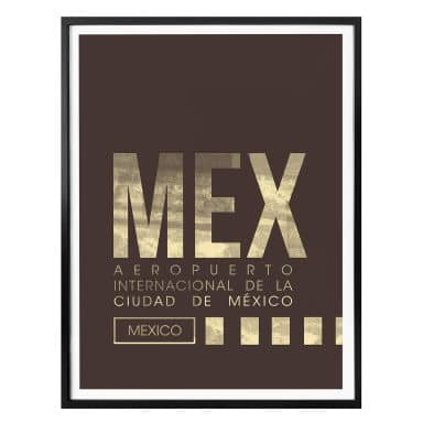 Poster MEX Airport Mexico City