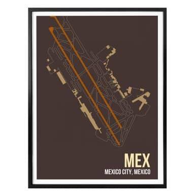 Affiche 08Left - Plan de MEX Mexico city