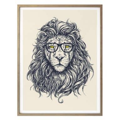 Poster Nerdy Lion