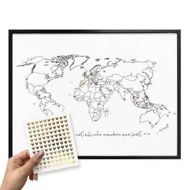 Der Große Weltkarten Shop Wall Art De