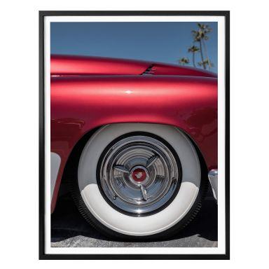 Poster Ochlich - Red Oldtimer