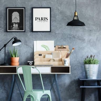 Poster set incl. frames - Paris is always...