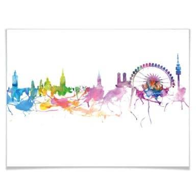 Poster Bleichner - Munich Skyline