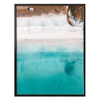 Poster Der Blick von oben: Weißer Sandstrand