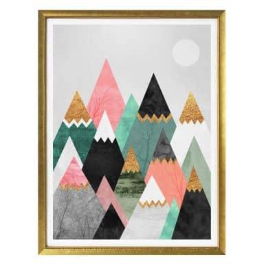 Poster Fredriksson - Bunte Berge