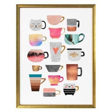 Poster Fredriksson - Kaffeetassen: Buntes Allerlei