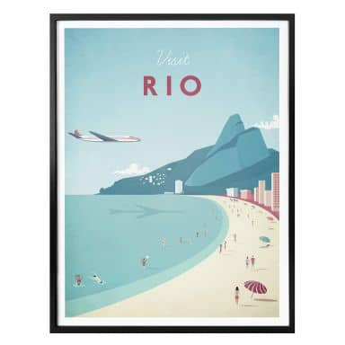 Affiche Rivers - Rio de Janeiro