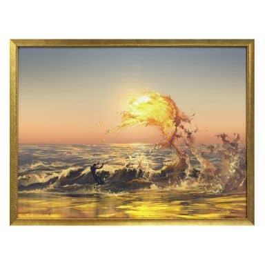 Poster aerroscape - Feuer Surfer