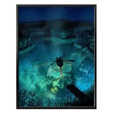 Poster aerroscape - Unterwasser Galaxie