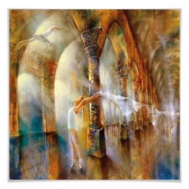 Poster - Schmucker - Die Tänzerin mit Möwe