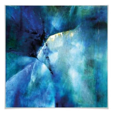 Poster Schmucker - Komposition in blau
