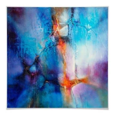 Poster Schmucker - Turquoise & Magenta