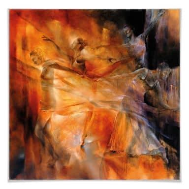 Poster - Schmucker - Vier Tänzerinnen
