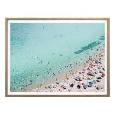 Poster Sisi & Seb - Treiben am Strand
