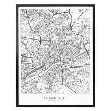 Poster Stadtplan Frankfurt