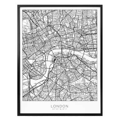 Poster Map of London