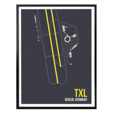 Poster 08Left - TXL Grundriss Berlin