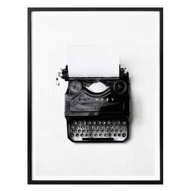 Affiche - Machine à écrire