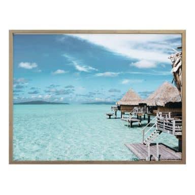 Poster Urlaub auf den Malediven