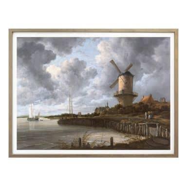 Poster van Ruisdael - Die Windmühle von Wijk bei Duurstede