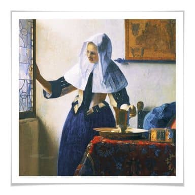 Poster Vermeer - Woman with Water Pitcher