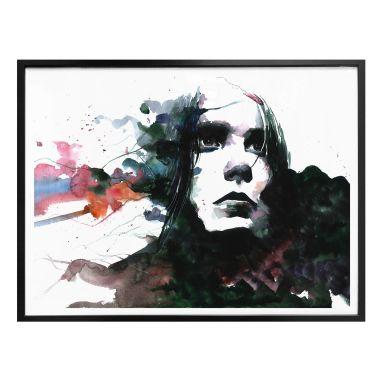 Poster Watercolour Face 01