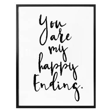 Plakat - You are my happy ending