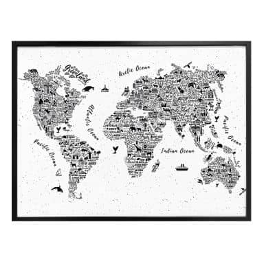 Poster World Map – Around the World