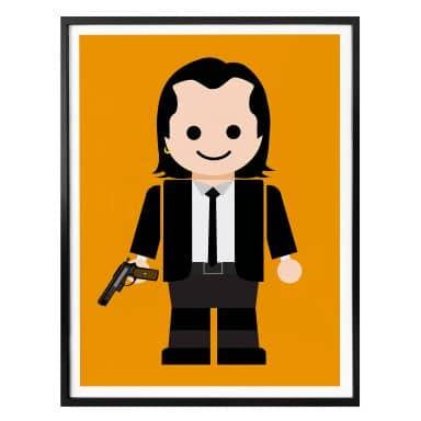 Poster Gomes - Pulp Fiction Spielzeug Vincent Vega