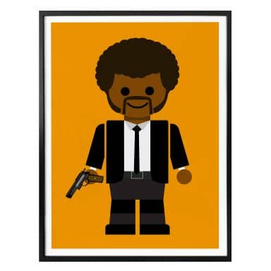 Poster Gomes - Pulp Fiction Spielzeug Jules Winnfield