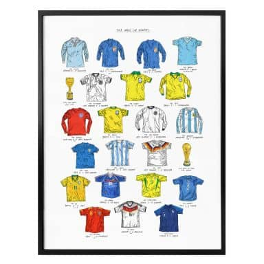 Poster Sparshott - Fußballtrikots Weltmeisterschaft