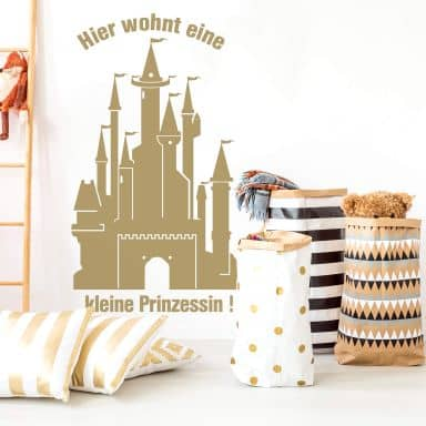 Sticker mural - Château de princesses