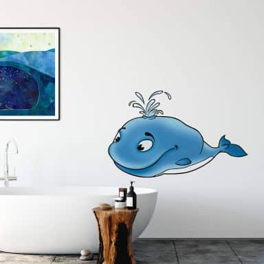 Sticker mural - Baleine
