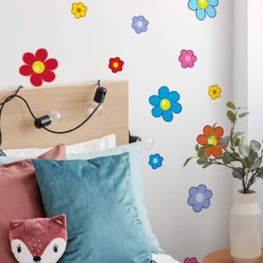 Sticker mural - Set Fleurs pour Enfants