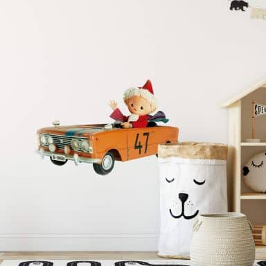 Wandtattoo Sandmann 3D Auto