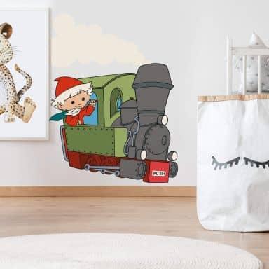 Wandtattoo Sandmann Lokomotive