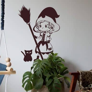 Wandtattoo Die kleine Hexe