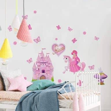 Sticker mural - Set Princesse