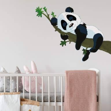 Wallsticker - Sovende panda