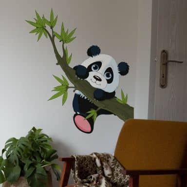 Climbing Panda Wall sticker