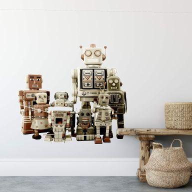 Wandtattoo Versammlung der Roboter