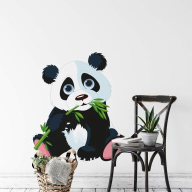 Nibbling Panda Wall sticker