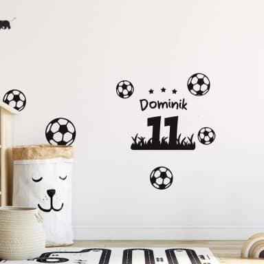 Sticker mural - Prénom maillot de football